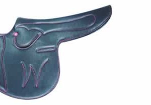 Webblite Horse Racing Race Exercise Saddle in Viscarb Carbon Leather for sale.