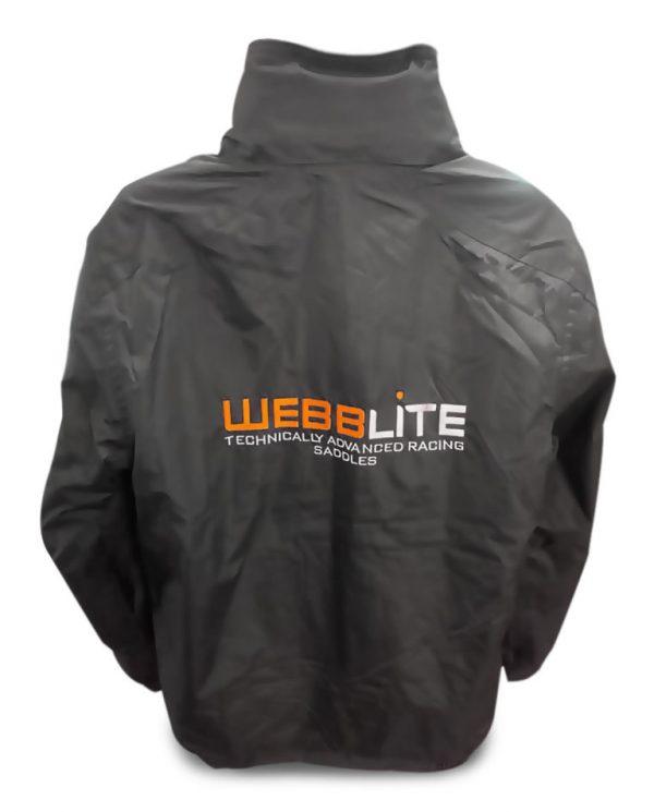 webblite professional saddles and jockey equipment jacket back image